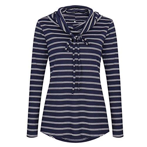 Manches Longues Des Femmes Rosées O-cou Robe Casual T-shirt Loose Blanc
