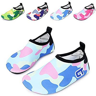 WXDZ Kids Water Shoes Swim Shoes Mutifunctional Quick Drying Barefoot Aqua Socks for Beach Pool