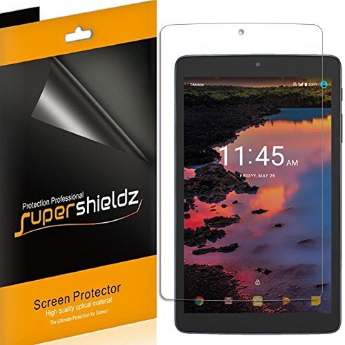 [3-Pack] Alcatel A30 Tablet 8-inch Screen Protector, Supershieldz Anti-Bubble High Definition Clear Shield + Lifetime Replacements Warrant - Retail Packaging - 8 In Tablet Screen Protector