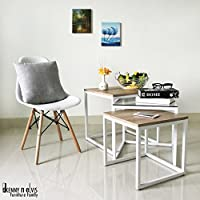 3-Piece Square Coffee Table Set (White)
