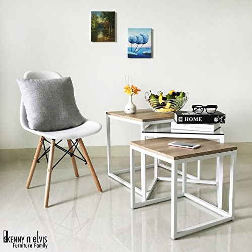 3-Piece Square Coffee Table Set (White) by KennynElvis