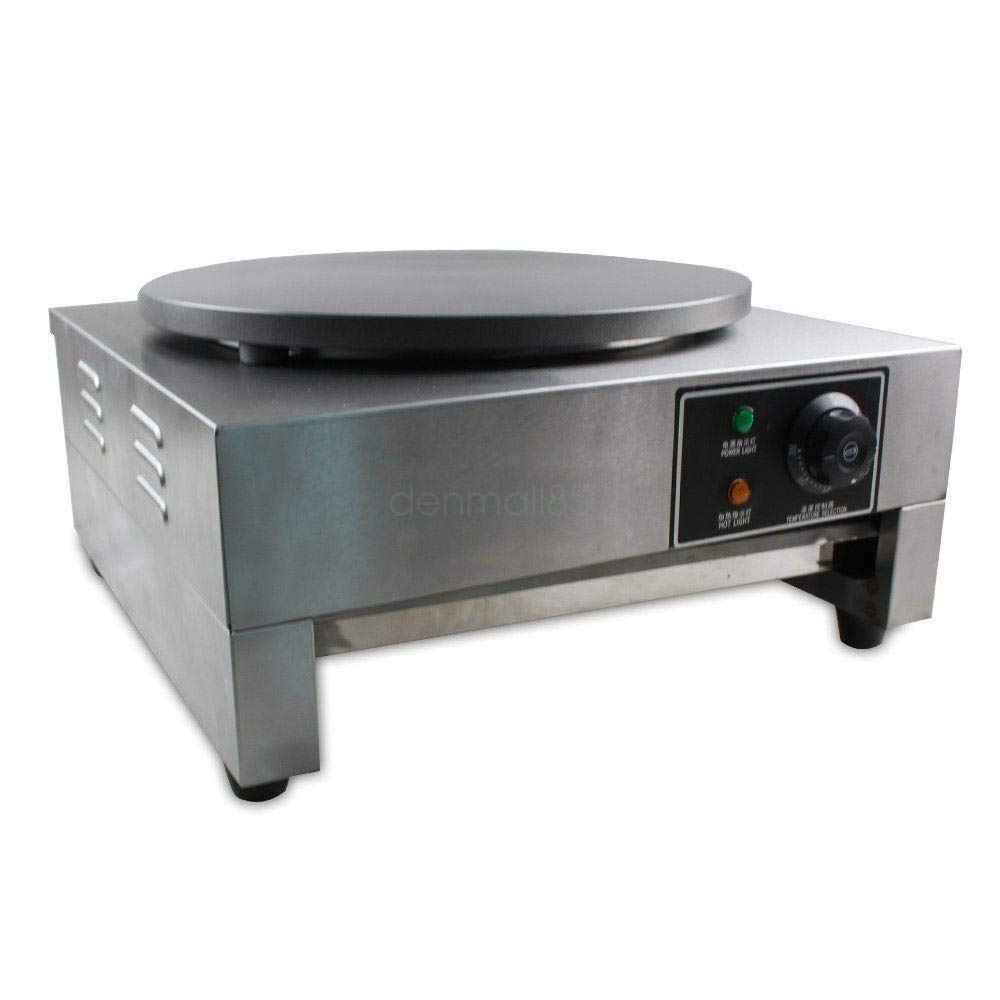 DONNGYZ 16'' Commercial Electric Crepe Maker Pancake Machine Single Hotplate Non Stick Cooking Plate 3KW'' Making Kitchen by DONNGYZ