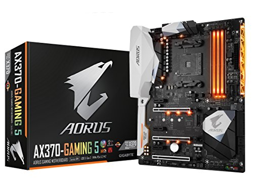 GIGABYTE GA-AX370-Gaming 5 AMD RYZEN AM4 X370 RGB FUSION SMART FAN 5 HDMI M.2 U.2 USB 3.1 Type-C ATX DDR4...