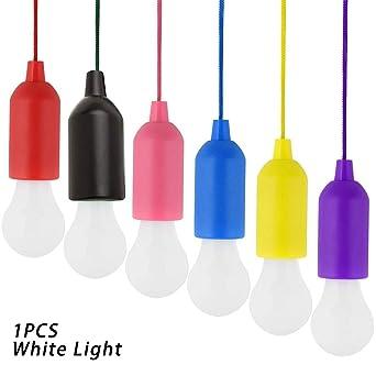 Bombilla LED, 0,5 W, funciona con pilas, cable de luz bombilla