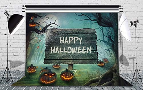 GoodsFederation 7x5ft Happy Halloween Photography Backdrop Pumpkin &