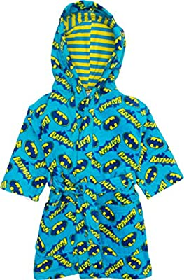 Warner Bros. Batman Toddler Boys' Beach Robe Swim Cover-Up Blue