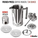 Mueller French Press 20% Heavier Duty Double