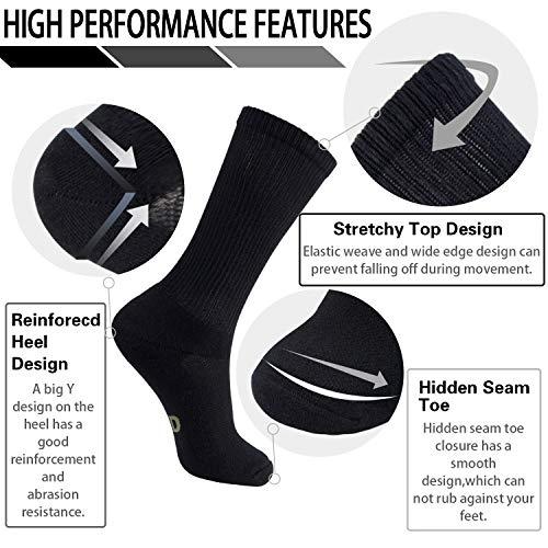 Paires Chaussettes Sport Noir Hommes md douces 6 De Femmes Bambou Fibre Ultra Pour xAAq5w4S