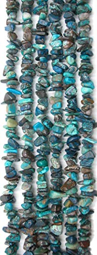 Azurite Multi Colored 5-7mm Chip Nugget Beads, 16 inch Strand