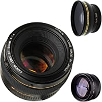 Canon 50mm 1.4 Portrait Lens + High Definition Wide Angle Auxiliary Lens + High Definition Telephoto Auxiliary Lens