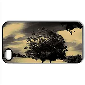 Behind The Haunted Wood Watercolor style Cover iPhone 4 and 4S Case