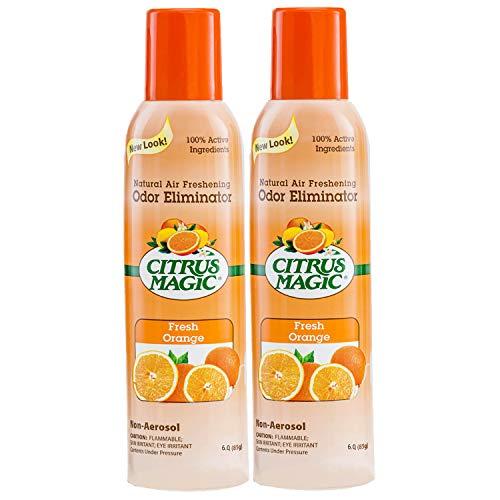 Citrus Magic Natural Odor Eliminating Air Freshener Spray, Fresh Orange, 6-Ounce, Pack of 2
