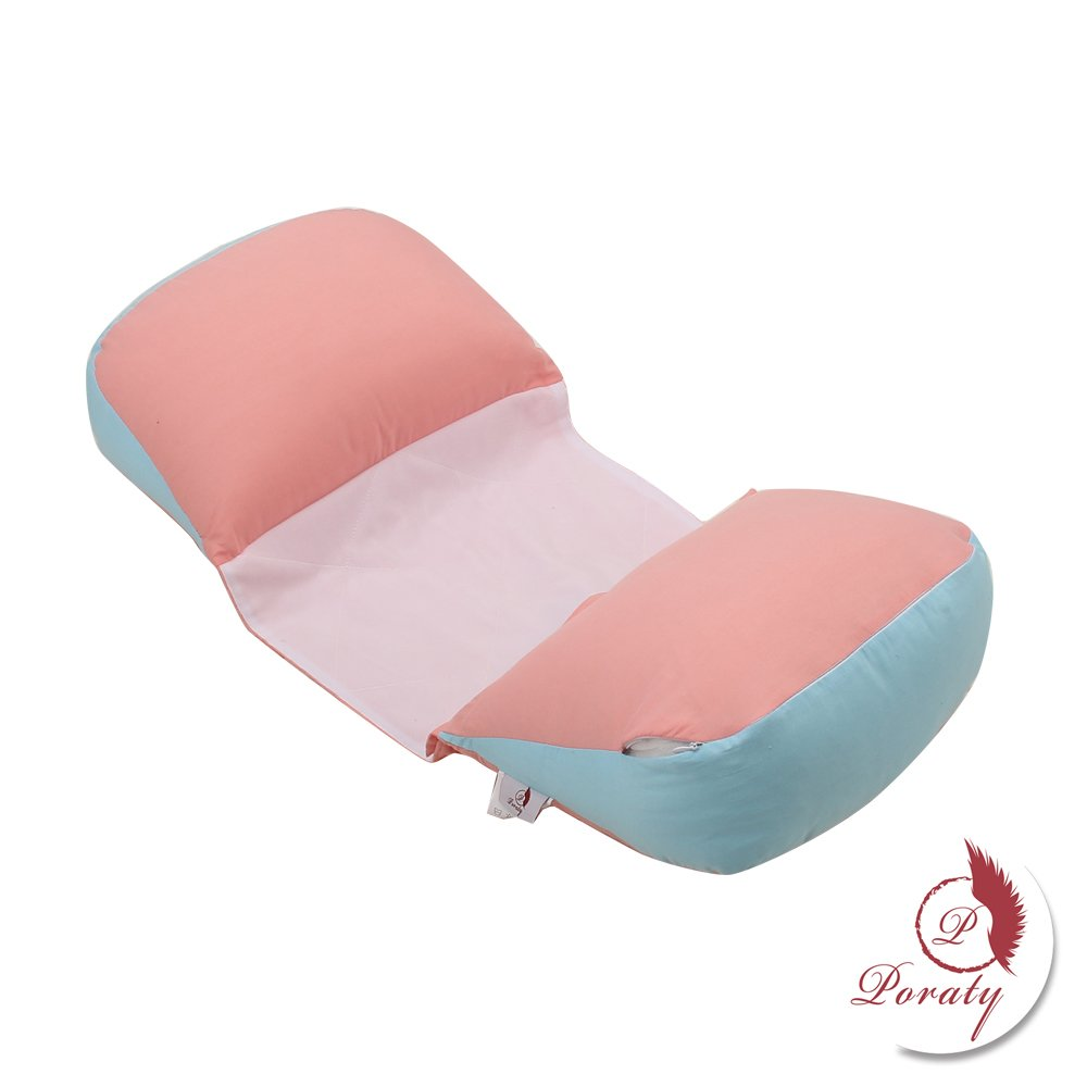 Poraty Pregnancy Pillow, Side Sleeping for Maternity Belly Waist Support Pillow (Blue&Pink)