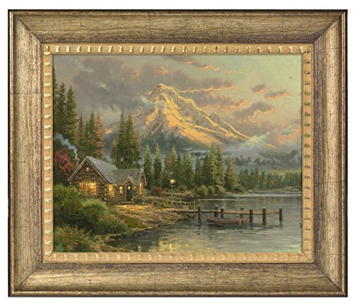 - Thomas Kinkade Lakeside Hideaway 16 x 20 Brushstroke Vignette (Burnished Gold)