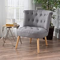 Christopher Knight Home 299776 Cicely Tufted Fabric Accent Chair, Grey