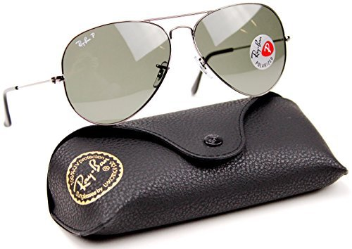 Ray-Ban RB3025 004/58 62mm Sunglasses Gunmetal / Crystal Green Polarized - Rb3025 004