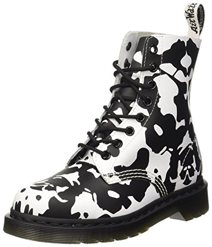 Dr. Martens Pascal Backhand, Scarpe Stringate Basse Brogue Unisex-Adulto Multicolore (White/Black)