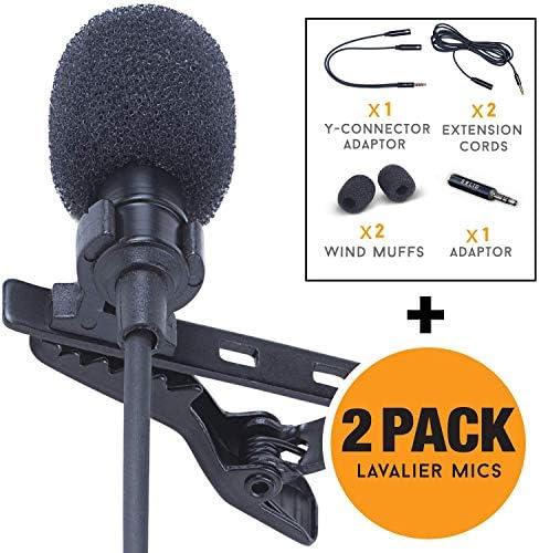Lavalier Lapel Microphone 2 Pack Complete