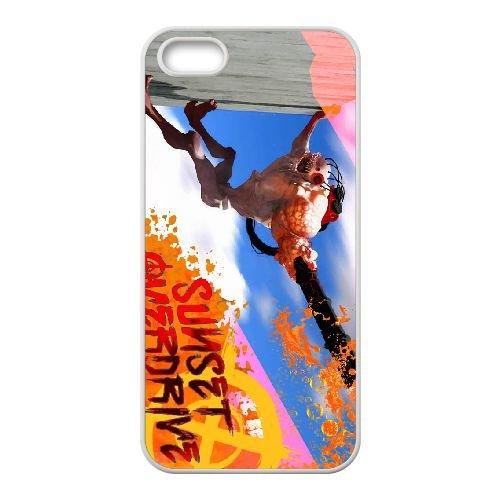 Sunset Overdrive 16 coque iPhone 5 5s cellulaire cas coque de téléphone cas blanche couverture de téléphone portable EEECBCAAN05846