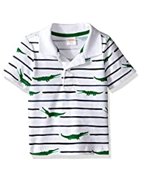 Gymboree Baby Boys' Striped Polo Shirt with Alligator