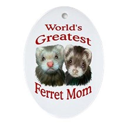 Christmas Ferret.Cafepress World S Greatest Ferret Mom Oval Holiday Christmas Ornament