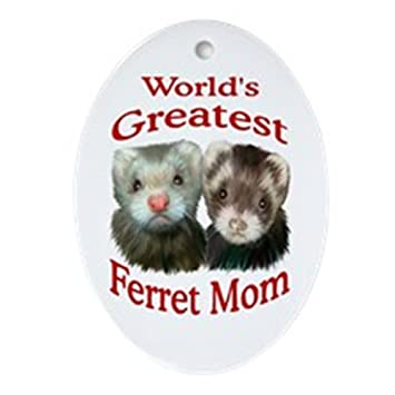 Image Unavailable - Amazon.com: CafePress World's Greatest Ferret Mom Oval Holiday