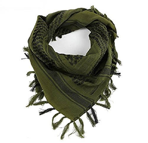 LORJE Tactical Desert Shemagh Arab Keffiyeh Neck Scarf Green ¡ (Best Window Material For Cold Climates)