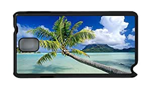 Stylish Samsung Note 3 cheap cases The sea palm tree PC Black for Samsung Note 3/Samsung N9000