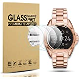 Diruite 4-Pack for Michael Kors Access Bradshaw Tempered Glass Screen Protector for MKT5001/5004/5013 Smart Watch [Anti-Scratch] [Perfectly Fit] [Optimized version] - Permanent Warranty Replacement