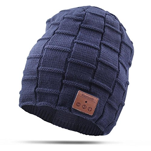 Bluetooth Beanie Hat, Vicotech Wireless 4.1 Hand - Free Knit Hat Cap...