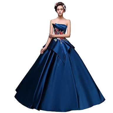 d553a59767ecc 千恵モール ウェディングドレス 花嫁 カラードレス ロング 二次会 披露宴 カラードレス ビスチェ ブルー レース パーティー