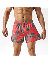 092d147aeb Mens Boys 80s 90s Vintage 4 Way Stretch Swim Trunks with Mesh Lining Quick  Dry Swim