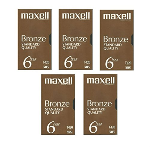 VHS Blank 5-Pack Maxell Bronze Standard Quality T-120