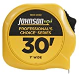 Johnson Level and Tool 1803-0030 30-Foot x 1-Inch Professional-Foots Choice Power Tape by Johnson Level & Tool