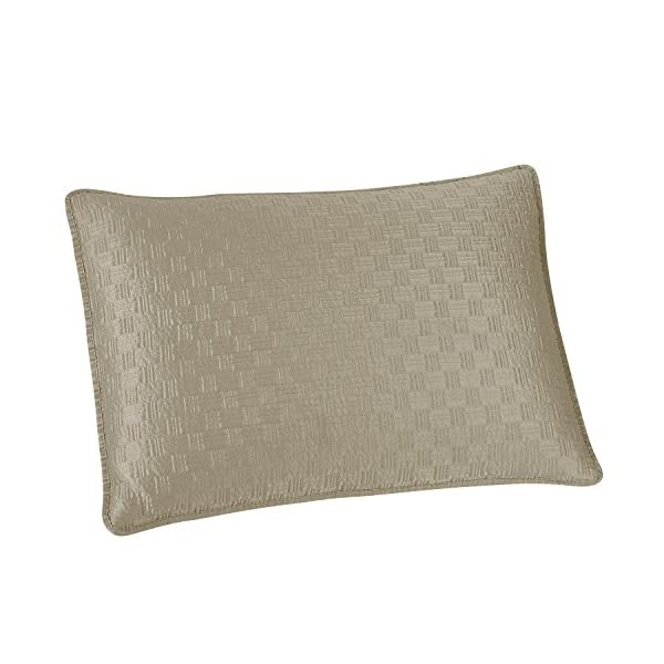 Brielle Basket Weave Sham Set, Standard, Linen