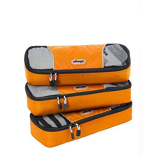 eBags Slim Packing Cubes - 3pc Set (Tangerine)