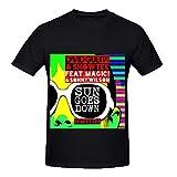 David Guetta Sun Goes Down Rock Mens O Neck Screen Printed T Shirts Black