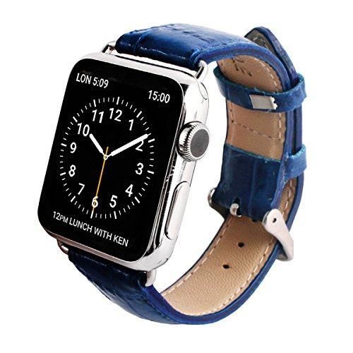 GAZE Band Cobalt Blue Croco for Apple Watch 38mm by Layblock