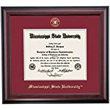 Mississippi State Bulldogs Diploma Frame Maroon Gray Matting Embossed Seal