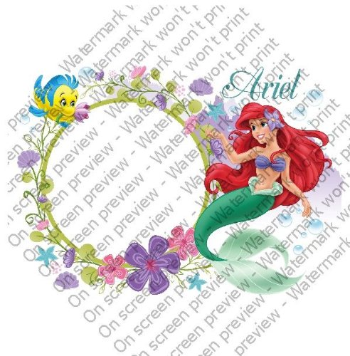 2 Disney Princess Little Mermaid Ariel Photo Frame Birthday