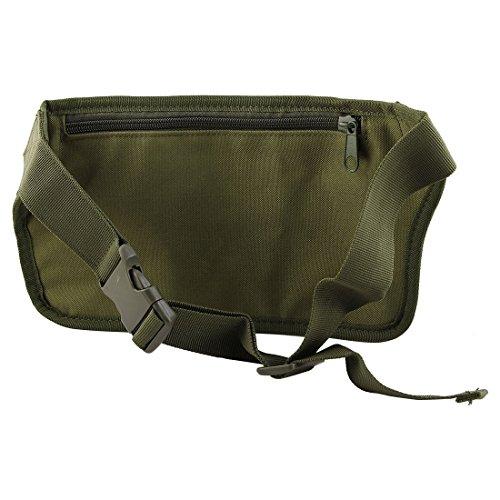 eDealMax Nylon Outdoor Sport Camping Zip Up 4 Vano regolabile supporto del telefono del sacchetto Della vita dell'esercito Verde by eDealMax (Image #2)