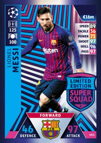Champions Football Card - Match ATTAX Champions League 18/19 Lionel Messi Limited Edition Trading Card - FC Barcelona 18/19