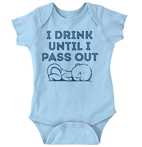 Brisco Brands Drink Pass Out Daddy Baby Clothes Cute Fathers Day Gift Idea Romper Bodysuit
