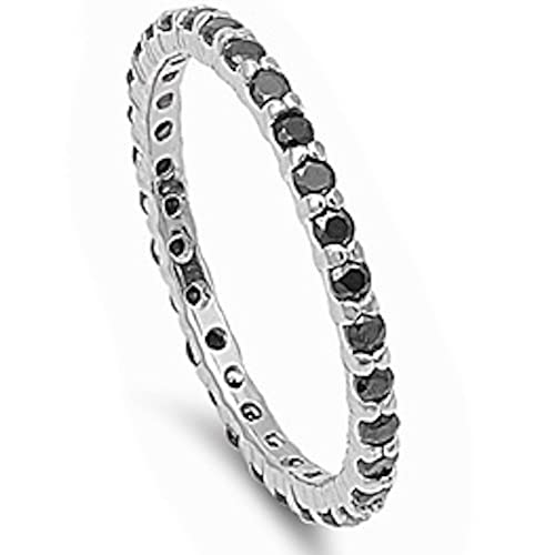 CloseoutWarehouse Halo Infinity Heart Cubic Zirconia Ring Sterling Silver 925