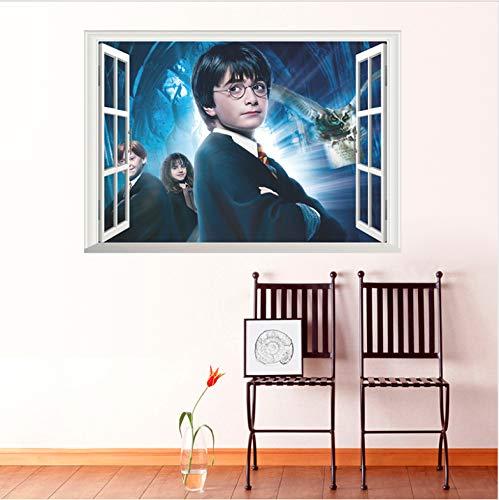 Windows 3D Harry Potter Hogwarts Pegatinas De Pared ...