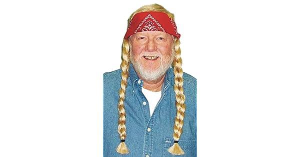 Amazon.com: uhc de hombre hippie Willie peluca rubia W ...