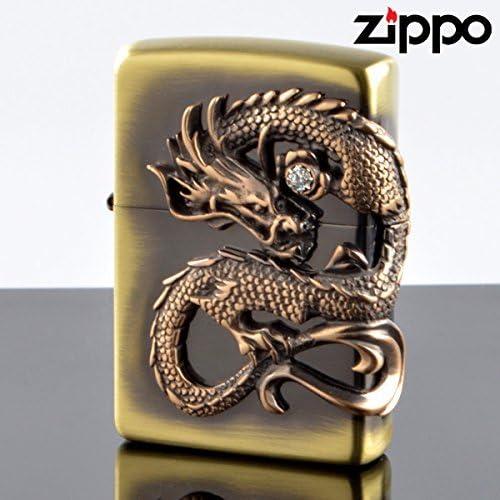 ZIPPO#200 龍サイドメタル 真鍮古美 ds-bs (10020055)