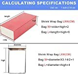 12X16 Shrink Wrap Clear Heat Seal Bags for