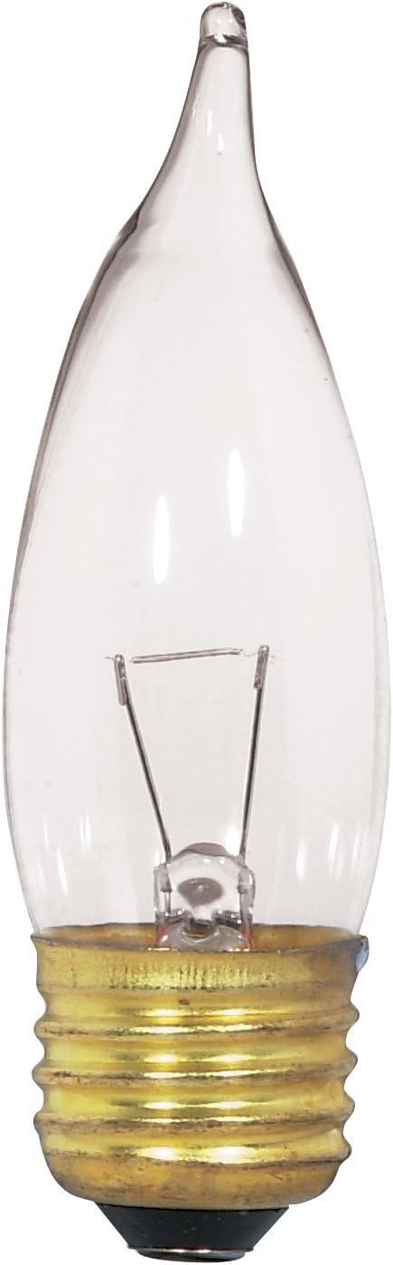 Satco S3869 12V Medium Base 25-Watt CA10 Light Bulb Clear Satco Products