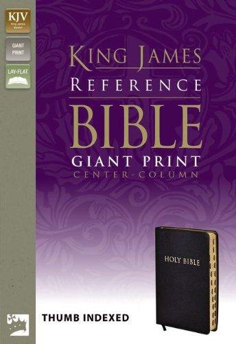 Read Online KJV, Reference Bible, Giant Print, Bonded Leather, Black, Indexed, Red Letter Edition (King James Reference Line) pdf epub